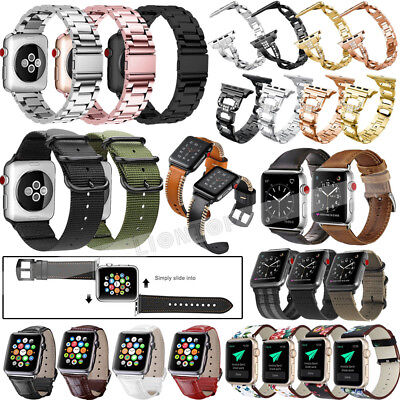 Nylon/Leather/Steel/Silicone Wrist Band Strap For New Apple Watch Series 1 2 3 4