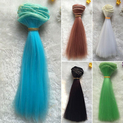 Extension Synthetic hair for Doll Hairdressing Colors 100x15cm Practical Useful