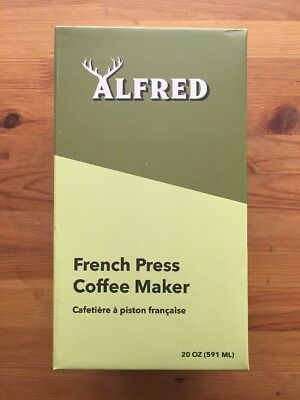 """Alfred French Press Coffee Maker 20oz  """"But First, Coffee."""""""