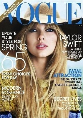 USA Vogue Magazine February 2012 Taylor Swift