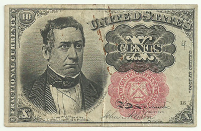 United States 10 Cent Fractional Currency - Fifth Issue - Series of 1874