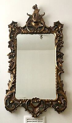 19th Century French Gilt Wood Mirror In Rococo Style