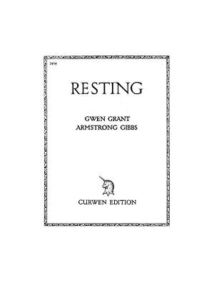 Cecil Armstrong Gibbs: Resting Voice Piano Voice Vocals Choral SHEET MUSIC BOOK