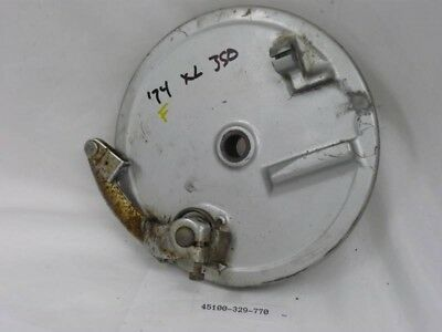 Honda backing plate, Front brake fits XL350 1976