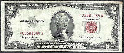 1953C $2 RED Seal *STAR* Legal Tender ~UNITED STATES NOTE~ Old US Paper Money!