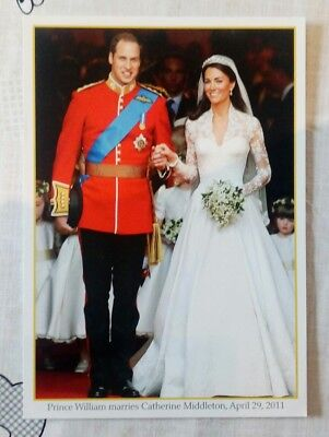 Prince William Marries Catherine Middleton POSTCARD. April 29th 2011