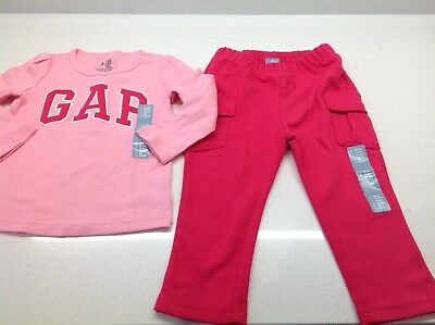 Girls 'Gap' Pink Trouser & Top Set In Pink,,Size 18-24, Bnwt