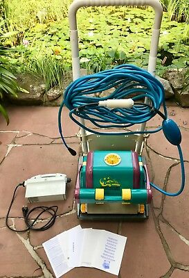 Poolroboter Dolphin Diagnostic 2001 m. Caddy gebraucht voll funktionsfähig