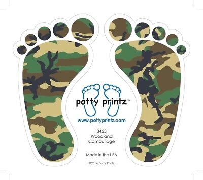 Potty Training Stickers Camouflage Vinyl Decal 🎗