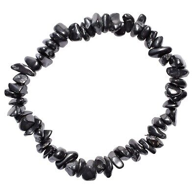 CHARGED Russian Shungite Crystal Chip Bracelet Stretchy ENERGY REIKI SYN 12