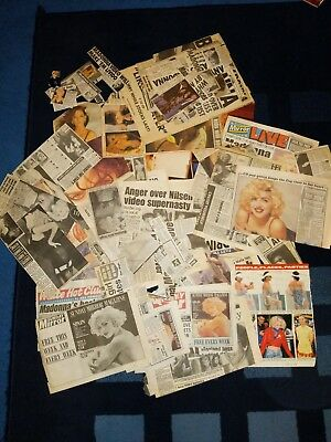 Madonna HUGE Magazine and Newpaper Cuttings Clippings Collection from 80s / 90s