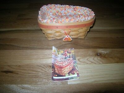 Nice Longaberger Candy Corn Basket With Liners & Tie On
