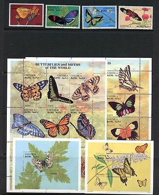 Eritrea 1997 #286-93 butterflies set & sheets MNH L214