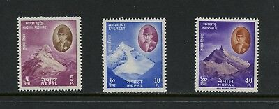 Nepal 1960/1 Mount Everest Himalayas 3v. MNH N273
