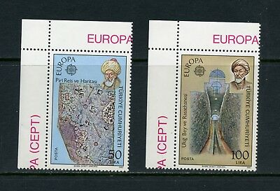 Turkey 1983 #2246-7 geography, maps, astronomy, space 2v. MNH M188