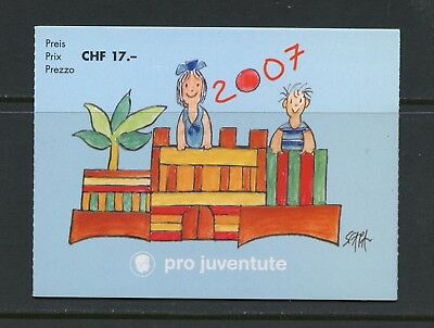 Switzerland 2007 #B713b Children's Art COMPLETE BOOKLET MNH K915