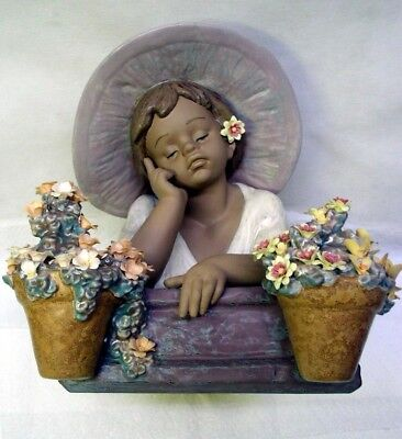 """Beautiful 12"""" Tall Lladro Gres Limited Ed. Figurine """"my Special Gaden"""" Ref #3582"""