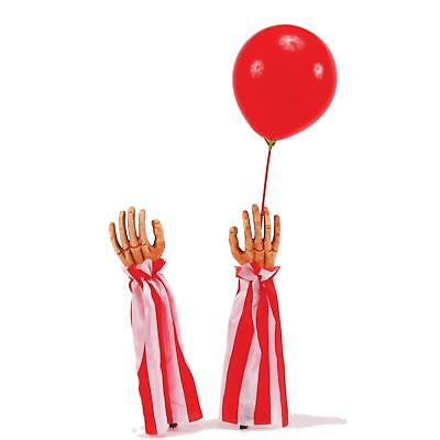 Clown Hands White And Red With Balloon Halloween Decoration Ornament Spooky