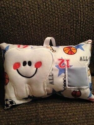 Tooth Fairy Pillow, sport soft tooth pillow with pocket,