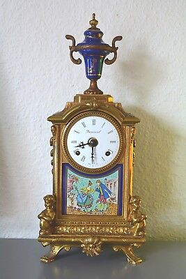 Vintage IMPERIAL mantle clock.Made in Italy. Franz Hermle - Germany mov't. Brass