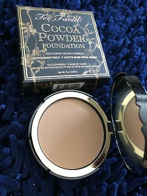 Too Faced Cocoa Powder Foundation *MEDIUM TAN* 0.38oz 11g FULL SIZE, FREE SHIP