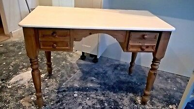 Antique Pine Dressing Table with two side drawers 107cms{ w} 56 cms( d) 77 (h)