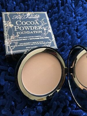 Too Faced Cocoa Powder Foundation *TAN* 0.38oz 11g FULL SIZE FREE SHIP