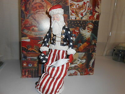 "Duncan Royale Civil War Santa - History of Santa 1983 12"" tall Lemited Edition"