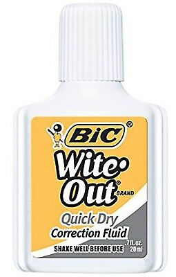 BIC Wite-Out Quick Dry Correction Fluid *Choose Qty*