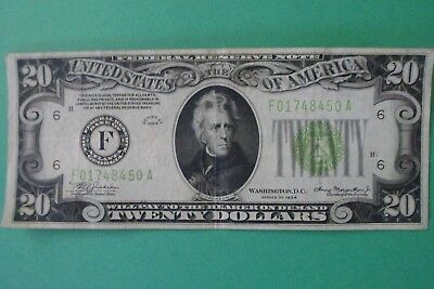 20 dollar federal reserve note series of 1934