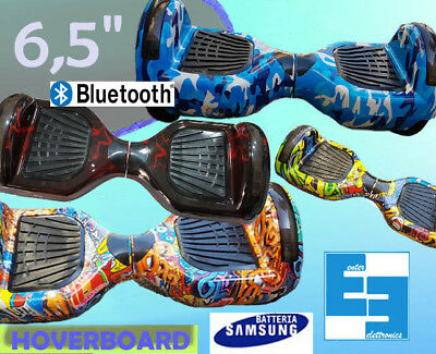Hoverboard  Monopattino Elettrico 6,5 Bluetooth Luci A Led Overboard
