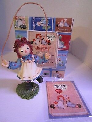 Raggedy Ann & Andy~ Hop Over Troubles With A Happy Heart Inside ~#677736 Enesco
