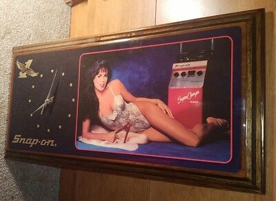 Vintage Snap-On Tools Super Charger Jump Start Pin-Up Girl Collectible Clock