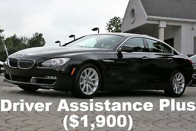 BMW 6-Series 640i xDrive Gran Coupe 2015 Driver Assistance Plus Cold Weather PKG 4 New Tires Black Sapphire Auto AWD