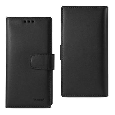 Reiko Iphone 7 Plus Genuine Leather Wallet Case With Rfid Card Protection Black