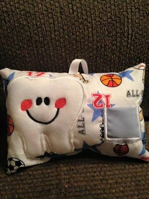 tooth fairy pillow sports