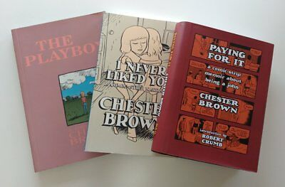 3 Chester Brown Graphic Novel Book * The Playboy Paying For It I Never Liked You