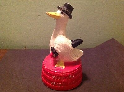 "1930's  HUBLEY Bank ~ Duck on a Tub ~ ""SAVE FOR A RAINY DAY"""