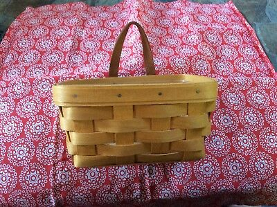 Longaberger Small Key Basket With Protector