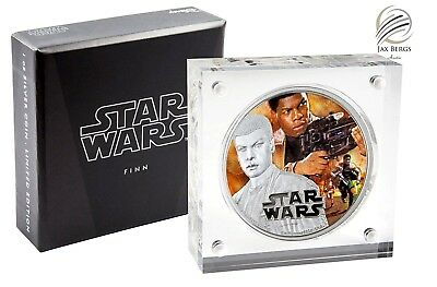 2016 Niue $2 1 oz Colorized Proof Silver STAR WARS THE FORCE AWAKENS - FINN