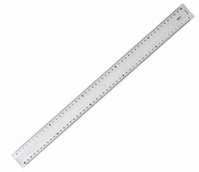 Graphoplex Protractor Ruler 2 facets Bump 50 cm Transparent