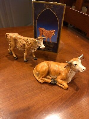 Fontanini Heirloom Nativity Seated Ox AND Standing Ox W/ story card