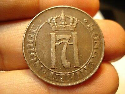 Norway  5 Ore  Emergency Money  1917  Rare