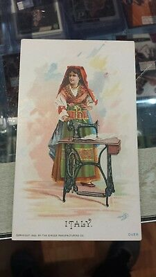 1890 Singer Manufactoring Co. Sewing Card Set 18 cards 12 different countries