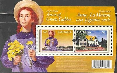 2008 Canada #2276 Mint Never Hinged Souvenir Sheet Anne of Green Gables