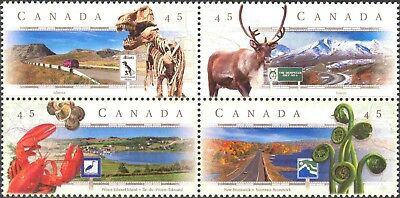 1998 Canada #1739-42 Mint Never Hinged Block of 4 Scenic Hi-ways - Second Series