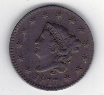 1817 large cent. Raw. Low start. No reserve.