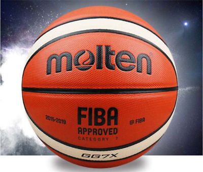 Molten GG7X 7/GP76 PU Men's Basketball/Volleyball  Fun Training w/Bag & Pin
