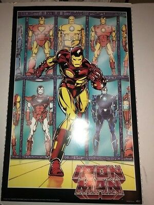 VINTAGE (IRONMAN) Poster / 22 x 34 / 1992/ GOOD CONDITION - Marvel COMICS / RARE
