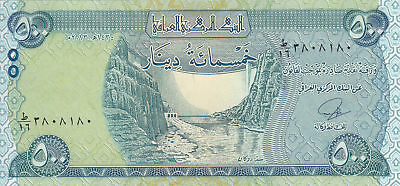 "25,000 NEW CRISP IRAQI DINAR ""OO's"" (2013) UNCIRCULATED CURRENCY 50 x 500 TOTAL"